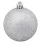 CASAYA Weihnachtskugel, Ø: 7 cm, silberfarben, 25 Stück-Thumbnail