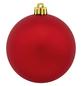 CASAYA Weihnachtskugel, Ø: 8 cm, dunkelrot, 6 Stück-Thumbnail