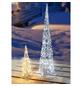 CASAYA Weihnachtspyramide LED Acryl, außen, 40 cm, 20 Lichter, kaltweiss-Thumbnail