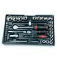 BRUEDER MANNESMANN WERKZEUGE Werkzeugkoffer »M29066«, Metall, bestückt, 155-teilig-Thumbnail