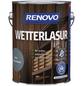 RENOVO Wetterlasur, für außen, 2,5 l, Friesenblau, seidenglänzend-Thumbnail