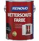RENOVO Wetterschutzfarbe, für außen, 2,5 l, anthrazitgrau, seidenglänzend-Thumbnail