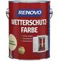 RENOVO Wetterschutzfarbe für außen, 2,5 l, Hellelfenbein, seidenglänzend-Thumbnail