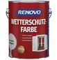 RENOVO Wetterschutzfarbe, für außen, 2,5 l, Lichtgrau, seidenglänzend-Thumbnail