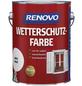 RENOVO Wetterschutzfarbe, für außen, 2,5 l, weiß, seidenglänzend-Thumbnail