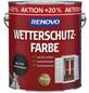 RENOVO Wetterschutzfarbe für außen, 3 l, anthrazit, seidenglänzend-Thumbnail