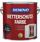 RENOVO Wetterschutzfarbe, für außen, 4 l, anthrazitgrau, seidenglänzend-Thumbnail