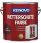 RENOVO Wetterschutzfarbe, für außen, 4 l, schwedischrot, seidenglänzend-Thumbnail