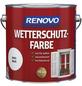 RENOVO Wetterschutzfarbe, für außen, 4 l, weiß, seidenglänzend-Thumbnail