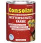CONSOLAN Wetterschutzfarbe, schwedischrot, seidenglänzend, 2,5 l-Thumbnail