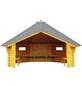 WOLFF FINNHAUS Wetterschutzhütte, BxT: 393 x 325 cm (Aufstellmaße), achteckig-Thumbnail