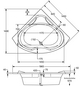 OTTOFOND Whirlpool »Madras «, für 2 Personen, BxTxH: 145x145x42 cm-Thumbnail