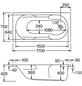 OTTOFOND Whirlpool »Nixe«, für 1 Person, BxTxH: 75 x 170 x 1700 cm-Thumbnail
