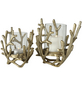 BOLTZE Windlicht »Coral«, goldfarben, Aluminium-Thumbnail