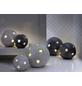 Windlicht Windlicht Sternkugel, D 18xH 17 cm, anthrazit mit Glitter, Magnesia-Thumbnail
