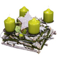 Wurzelgesteck, olive dekoriert-Thumbnail