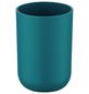 WENKO Zahnputzbecher, Thermoplastischer Kunststoff (TPE), petrolfarben, rund-Thumbnail