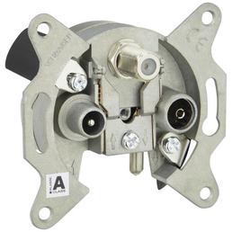 SCHWAIGER 3-Loch-Richtkopplerdose, Silber, Metall, Fernsehgeräte, SAT-Anlagen, Receiver