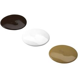 HETTICH Abdeckkappe, rund, weiß / braun / beige, Ø 30 mm