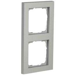 GIRA Abdeckrahmen, E2, 2-fach, Aluminium, Kunstfaser