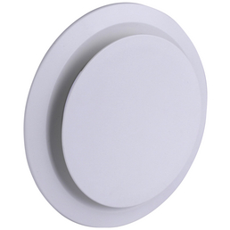 MARLEY Ablufttellerventil, rund, Polystyrol (EPS), weiß