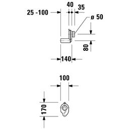 DURAVIT Absaugesiphon, Kunststoff, 140_ mm, weiß