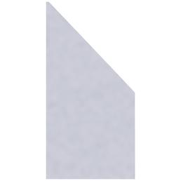 TraumGarten Abschlusselement »System GLAS Matt«, Glas, HxL: 180 x 90 cm
