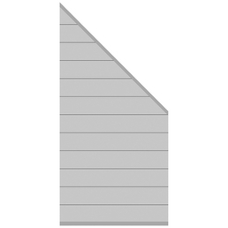 TraumGarten Abschlusselement »Systemminium CLASSIC«, Metall, HxL: 181 x 178 cm