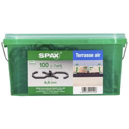 SPAX Abstandhalter für Dielen, Air 6,5, LxBxH: 9 x 2,8 x 0,4 cm, Schwarz, Kunststoff