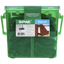 SPAX Abstandhalter für Dielen, LxBxH: 6 x 2 x 0,8 cm, Schwarz, Kunststoff