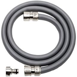 GEKA Anschluss-Set »GEKA Plus«, Länge: 15 cm, Messing/PVC, grau/dunkelgrau/silberfarben