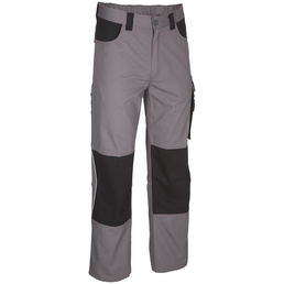 SAFETY AND MORE Arbeitshose EXTREME Polyester/Baumwolle grau/schwarz Gr. M