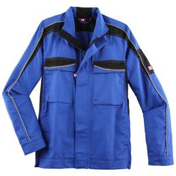 BULLSTAR Arbeitsjacke »EVO«, schwarz/kornblumenblau, Polyester/Baumwolle, Gr. L