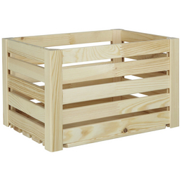 ZELLER Aufbewahrungsbox, BxHxL: 30 x 24 x 40 cm, Holz