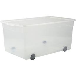 Rotho Aufbewahrungsbox »CLEAR «, BxHxL: 40 x 33,5 x 71,5 cm, Kunststoff