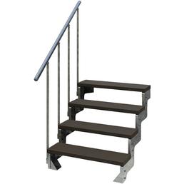DOLLE Außentreppe »Gardentop«, 4 Vollstufen, braun, 72 cm Geschosshöhe