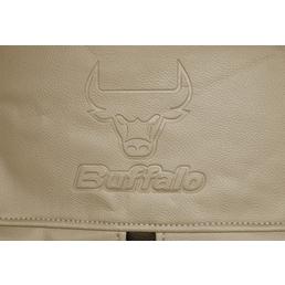EUFAB Autositzbezug, Buffalo, Braun, Polyester | Kunstleder, 17-tlg., für hinten und vorne