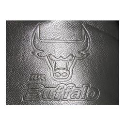 EUFAB Autositzbezug-Set, Buffalo, Schwarz | Grau, Polyester | Kunstleder, 17-tlg., für hinten und vorne