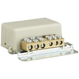 SLS-ELEKTRO Baderdungsschiene, Kunststoff/Metall, Grau/Silber, Kabel von 1,5 – 25 mm²