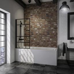 SCHULTE Badewannenfaltwand »Atelier 1«, B x H: 80  x 140  cm, Glas (ESG)