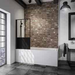SCHULTE Badewannenfaltwand »Black Style Komfort«, L x B:  x 80 cm
