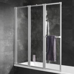 SCHULTE Badewannenfaltwand »Komfort«, B x H: 126,8  x 140  cm, Kunstglas
