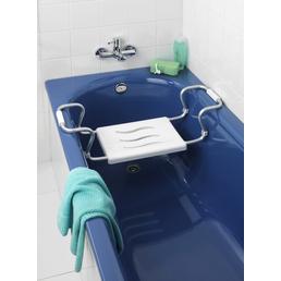 WENKO Badewannensitz »Secura«, Höhe: 18  cm, weiss/aluminiumfarben