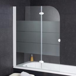 WELLWATER Badewannentrennwand, BxH: 112 x 140 cm, Einscheiben-Sicherheitsglas (ESG)