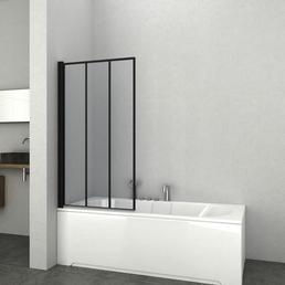 SANOTECHNIK Badewannentrennwand »Elite Black«, BxH: 79 x 140 cm, Sicherheitsglas