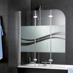 SCHULTE Badewannentrennwand »Liane«, BxH: 140 x 125 cm, Einscheiben-Sicherheitsglas (ESG)
