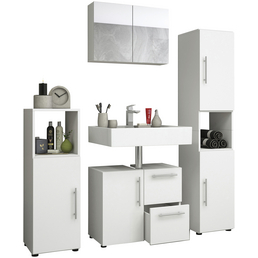 VCM Badmöbel-Set »Flandu«, 4 teilig, modern, mit Spiegel