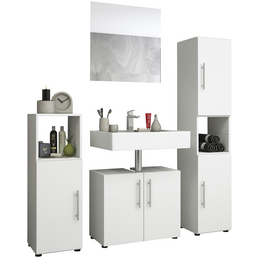 VCM Badmöbel-Set »Tinosa«, B x T x H: 123  x 32  x 160  cm, weiß