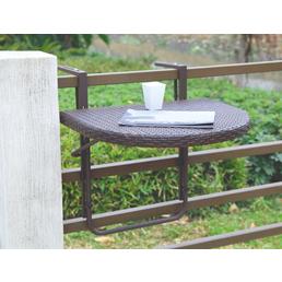 GARDEN PLEASURE Balkonhängetisch »Agra« mit Aluminium-Tischplatte, BxTxH: 60 x 50 x 43 cm