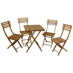GARDEN PLEASURE Balkonset »Alameda«, 4 Sitzplätze, aus Akazienholz